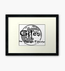 Giles the Teenager Tolerator Framed Print
