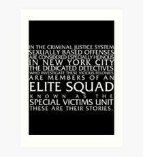 Law and Order:SVU Special Victims Unit Introduction Dick Wolf Classic Art Print