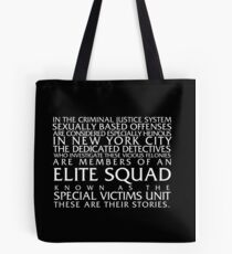 Law and Order:SVU Special Victims Unit Introduction Dick Wolf Classic Tote Bag