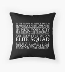 Law and Order:SVU Special Victims Unit Introduction Dick Wolf Classic Throw Pillow
