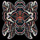 Cecropia Moth Mandala - Symmetrical by jenithea