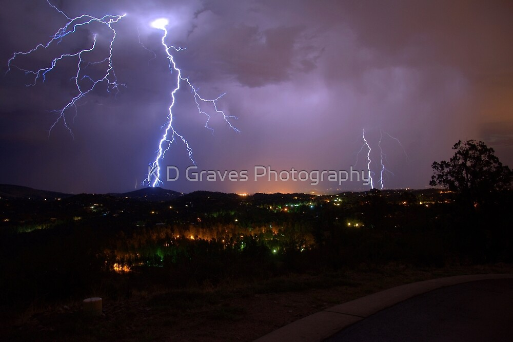 Lightning Storm by K D Graves Photography
