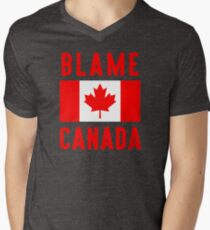 Blame Canada Men's V-Neck T-Shirt