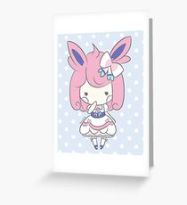Chibi Lolita Sylveon Greeting Card