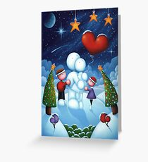 Our love is frozen in time Greeting Card