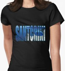 Santorini Women's Fitted T-Shirt