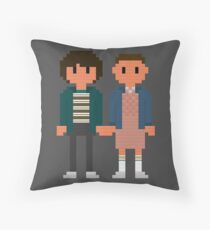 Mike and Eleven - Stranger Things Throw Pillow