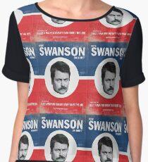 Vote For Ron Swanson Women's Chiffon Top