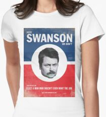 Vote For Ron Swanson Women's Fitted T-Shirt
