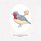 Haruki Murakami's The Wind-Up BIrd Chronicle // Illustration of a Bird with a Wind-up Key in Pencil & Watercolour by arosecast