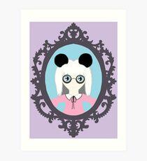Kawaii Panda Cosplay Girl Art Print
