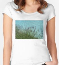 Summer Aromatherapy at the Fragrant Edge of the Swimming Pool Women's Fitted Scoop T-Shirt