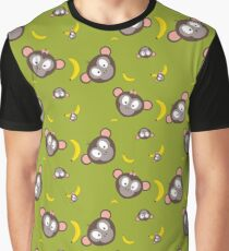Monkeys with bananas   Graphic T-Shirt