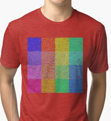 Deep Dreaming of a Color World 2 Tri-blend T-Shirt