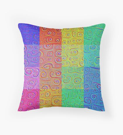 Deep Dreaming of a Color World 2 Throw Pillow
