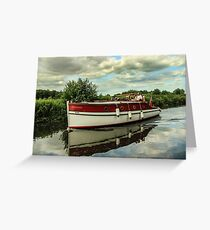 Vintage vessel on Norfolk Broads Greeting Card