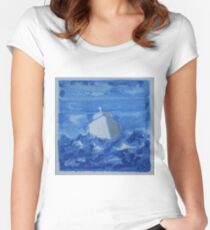 Bateau bleu Women's Fitted Scoop T-Shirt