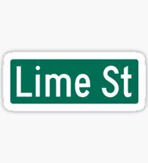 Lime St. Sticker