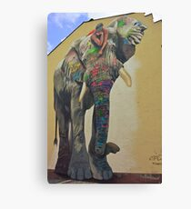 Elephant graffiti Canvas Print