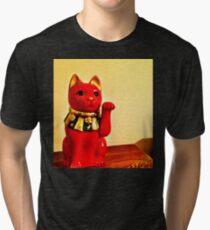 Lucky Cat Tri-blend T-Shirt