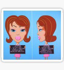 Double Mugshot Sticker