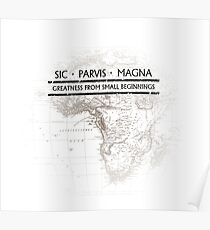 Uncharted - SIC PARVIS MAGNA Poster