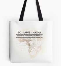Uncharted - SIC PARVIS MAGNA Tote Bag