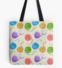 Knitter's Paradise Pattern Tote Bag