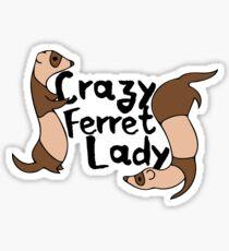 Pegatina Crazy Ferret Lady