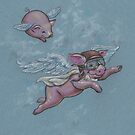 When Pigs Fly (they have ALL the fun!) by justteejay