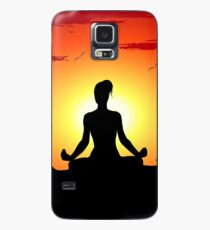 Female Yoga Meditating  Case/Skin for Samsung Galaxy