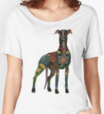 greyhound white Women's Relaxed Fit T-Shirt