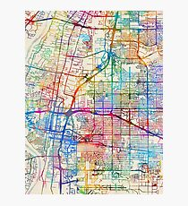 Albuquerque New Mexico City Street Map Photographic Print