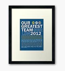 Unser bestes Team 2012 Gerahmtes Wandbild
