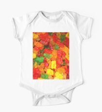 colorful sweet tooth foodie candy gummy bear  One Piece - Short Sleeve