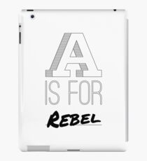 A is for Rebel iPad Case/Skin