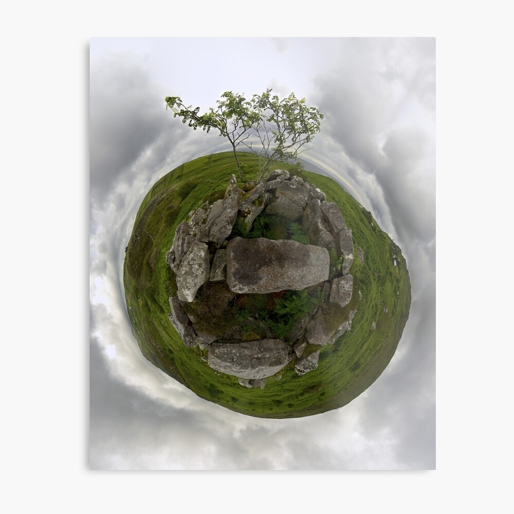 Tomb: Croaghbeg Court Tomb, Shalwy Valley, Donegal Metal Print