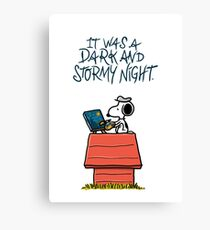 It was a dark and stormy night Canvas Print