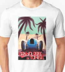 """GRAND PRIX of TUNISIA"" Vintage Auto Racing Print Unisex T-Shirt"