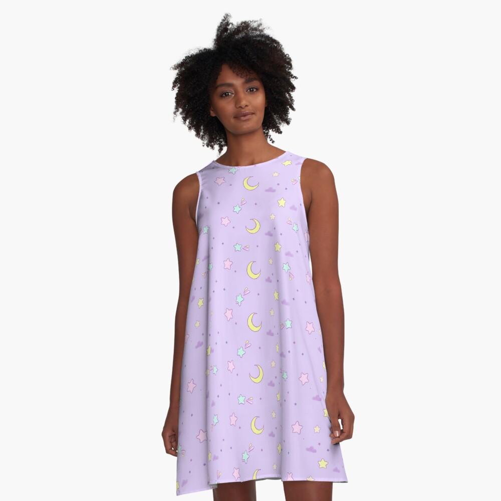 Pastel sky A-Line Dress Front