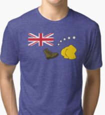 The Simpsons – Australian Flag, Boot, Australian Tri-blend T-Shirt