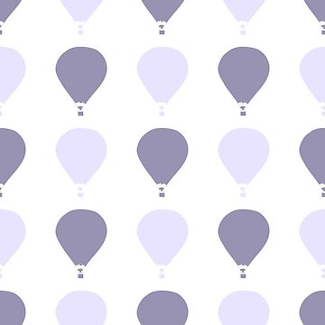 gentle seamless pattern with a silhouette of balloon cute illustration for your design by dasha122007