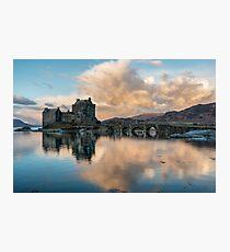 Eilean Donan Castle at Sunrise Photographic Print