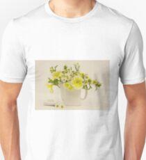 Teapot Of Yellow Petunias And Daisies  Unisex T-Shirt