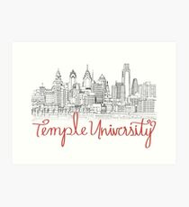 Temple University skyline Art Print