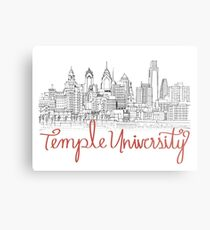Temple University skyline Metal Print