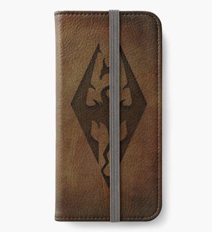 Skyrim Worn Leather Emboss iPhone Wallet/Case/Skin