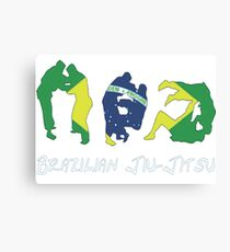 Brazilian Jiu-Jitsu Martial Arts Canvas Print
