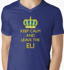 Leave EU Funny Anti European Union Protest Men's V-Neck T-Shirt
