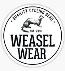 Pegatina Weasel Wear Cycling